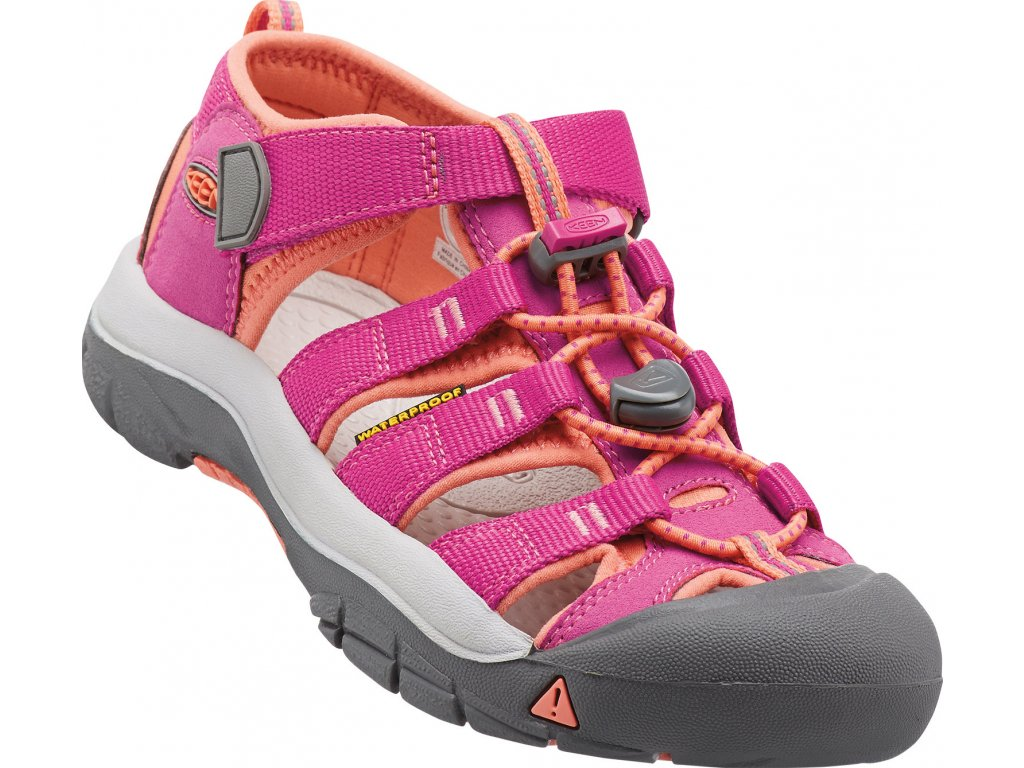 Keen Kids Newport H2 very berry/fusion coral (Velikost EU 32/33)