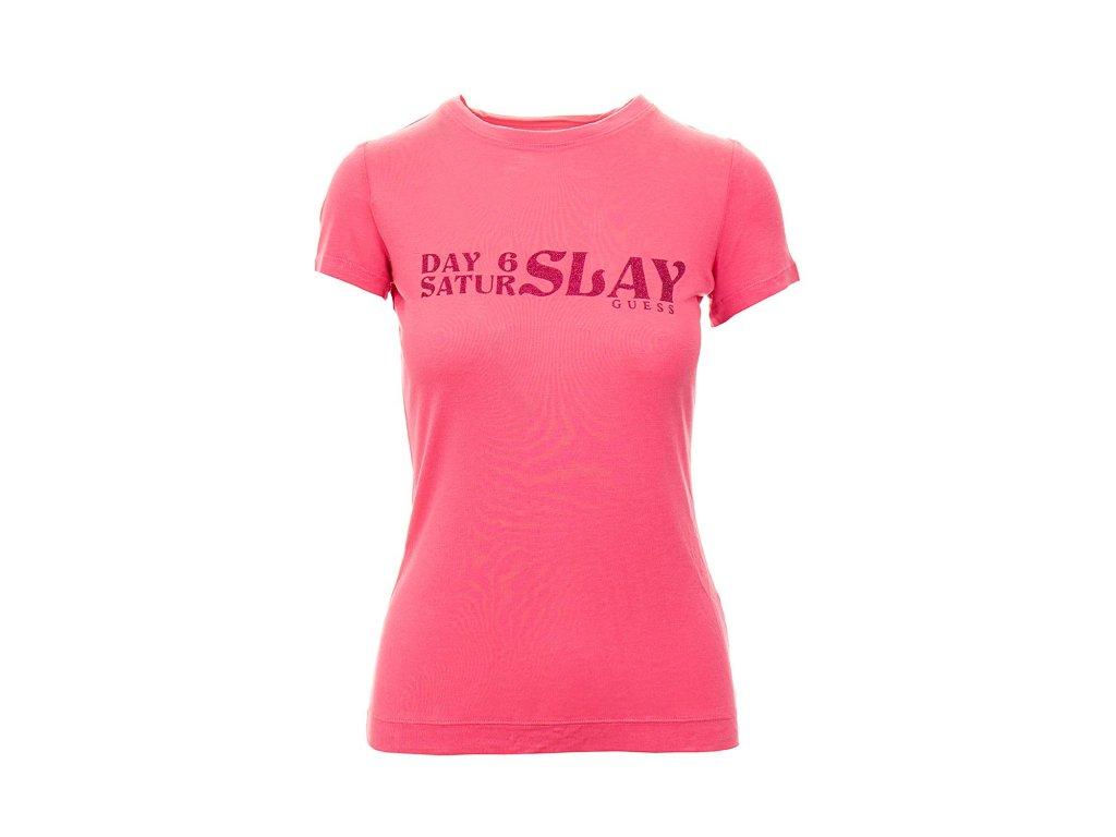 GU489 Guess dámské tričko růžové (1)