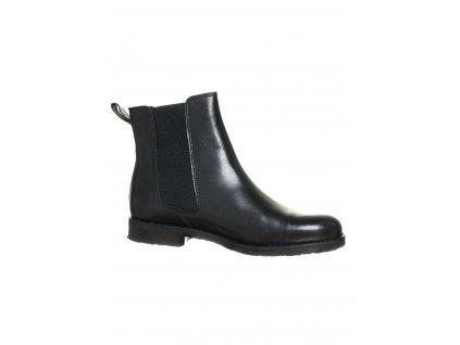 ZIGN dámské boty kožené černé ZI7 (Velikost EU 38)