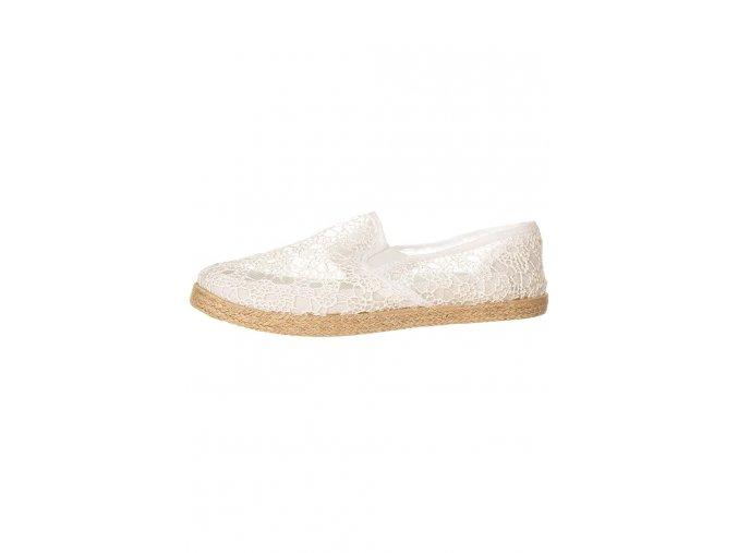 Cassis dámské espadrilky bílé (Velikost EU 38)