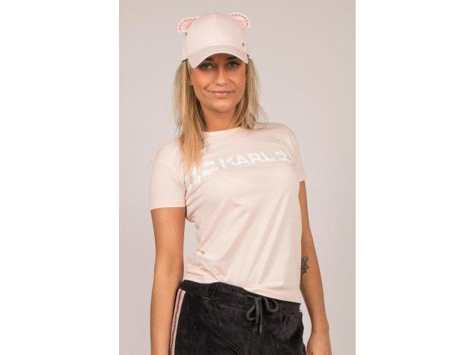 Karl Lagerfeld dámské tričko růžové (Velikost L)