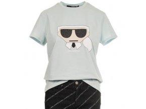Karl Lagerfeld dámské tričko modré (Velikost M)