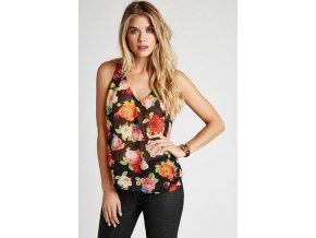 Guess top Strappy Back Rose - Print (Velikost XS)