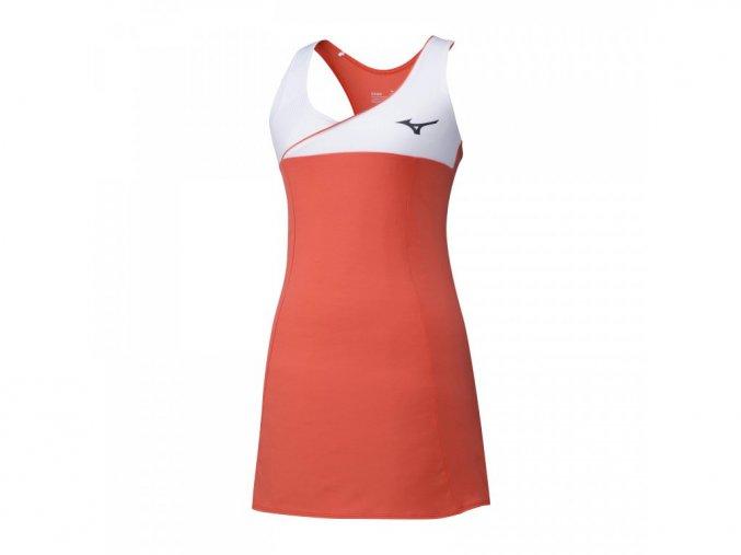 Tenisové šaty Amplify Dress - White, Black, Hot Coral
