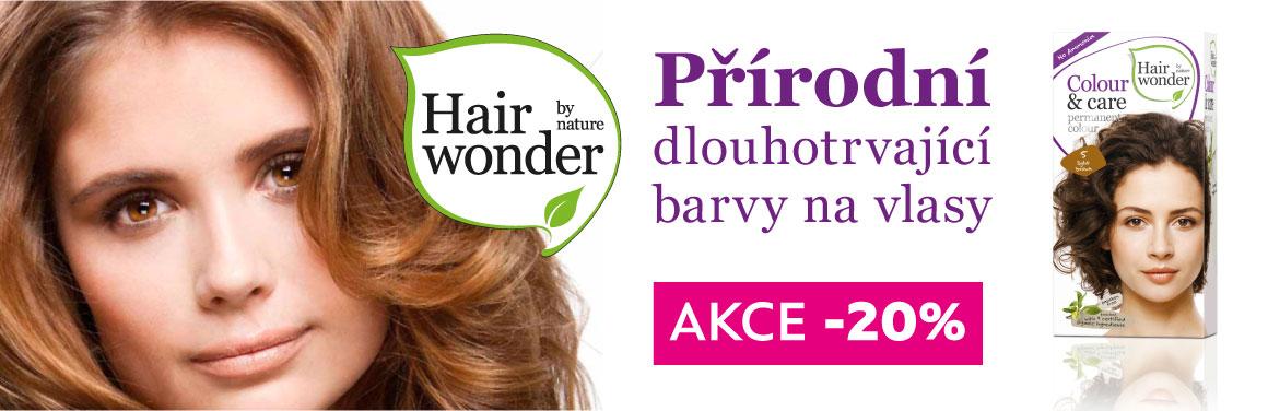 HairWonder - přírodní dlouhotrvající barvy na vlasy se slevou 20%