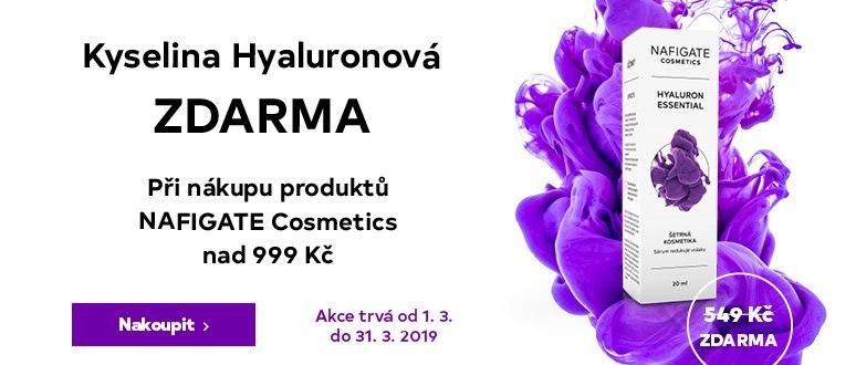 Kyselina hyaluronová ZDARMA při nákupu produktů NAFIGATE nad 999 Kč