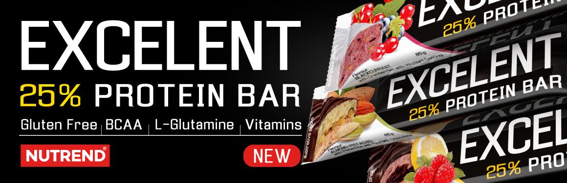Proteinová tyčinka s ovocem či oříšky, zalitá v mléčné čokoládě nebo jogurtové polevě.
