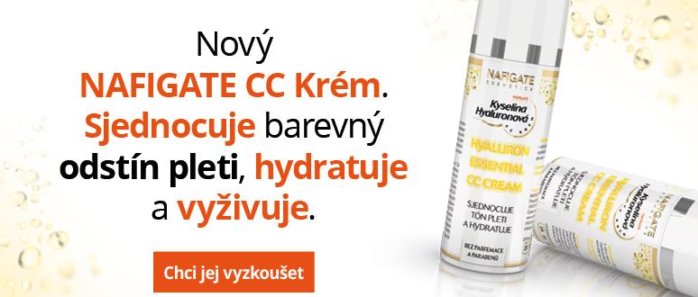 NAFIGATE CC Krém sjednocuje tón pleti a redukuje její zčervenání díky mikrokuličkám pigmentu