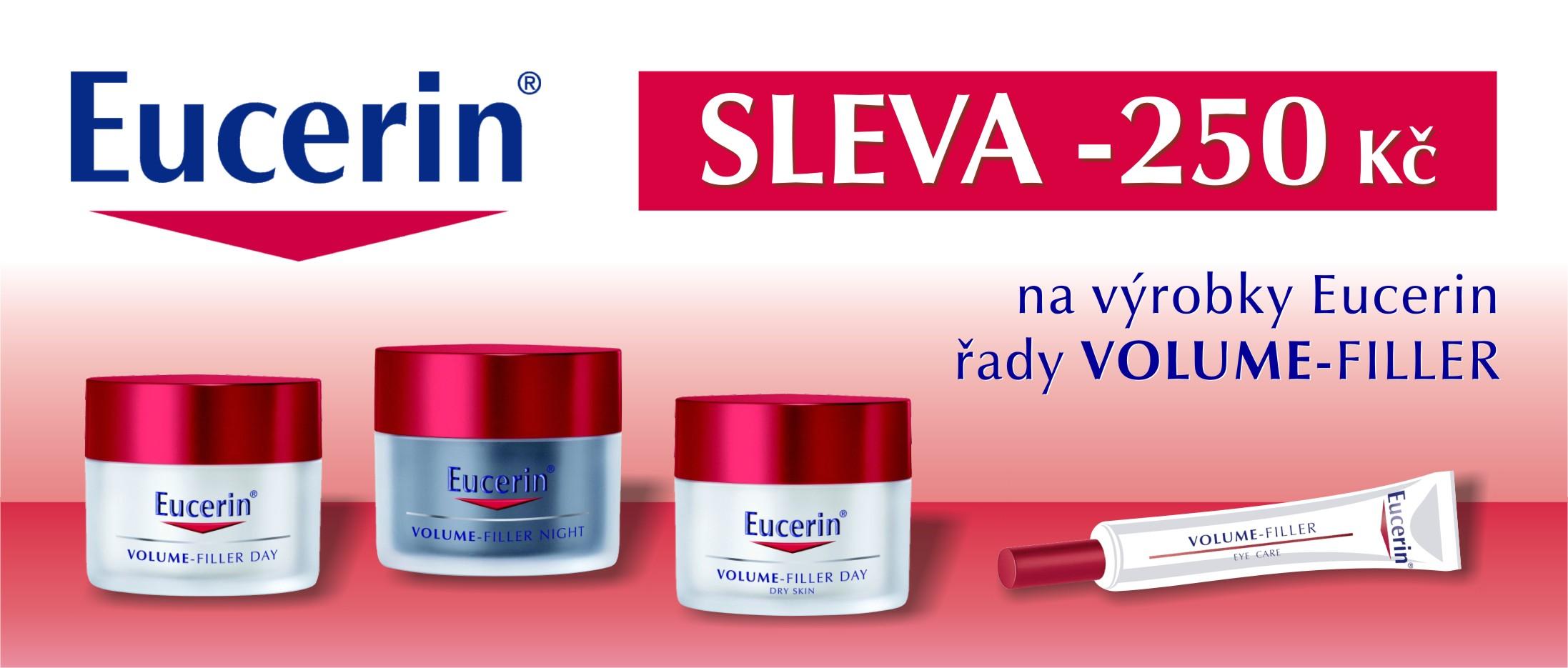 Sleva 250 Kč na výrobky z řady Eucerin Volume Filler. Limitovaná nabídka.