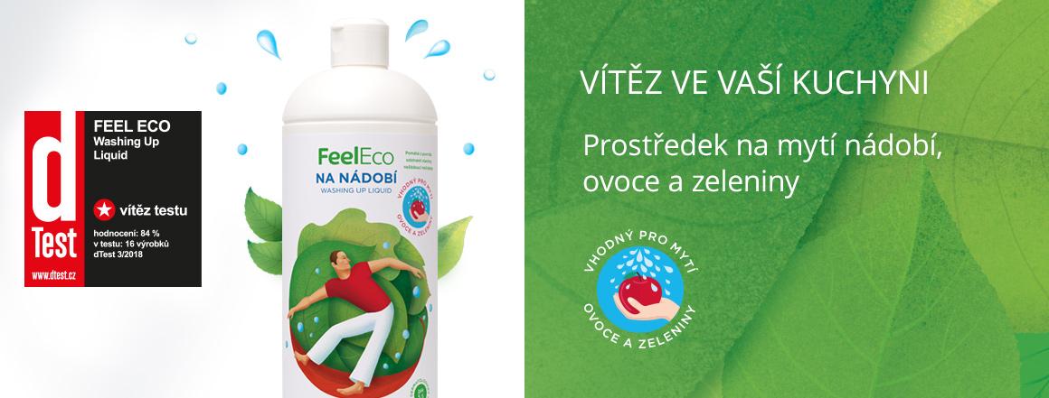 Feel Eco prostředek na ruční mytí nádobí vyhrál v dTestu