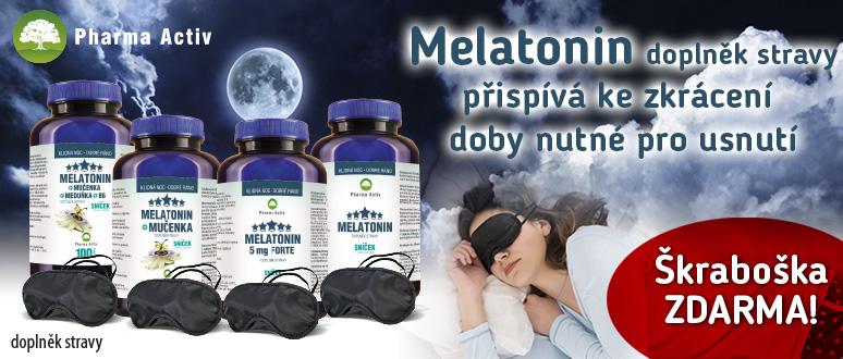 Melatonin + Škraboška na spaní ZDARMA