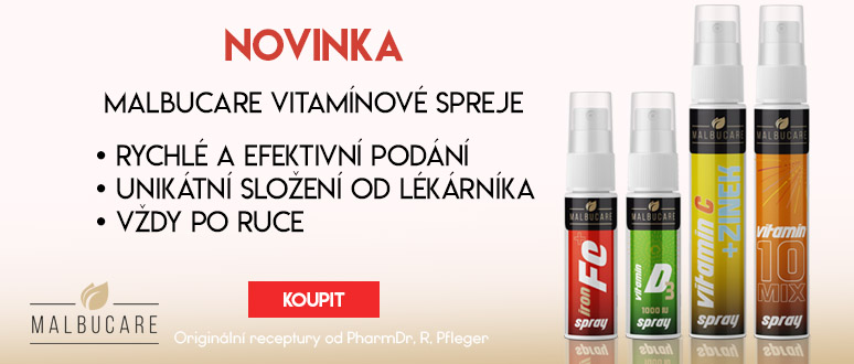 NOVINKA: Malbucare vitamínové spreje
