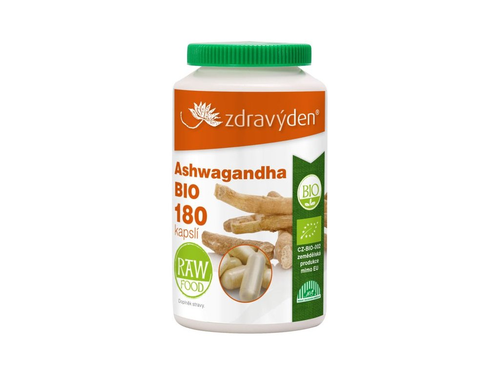 ZdravýDen®  BIO  Ashwagandha 180 kapslí