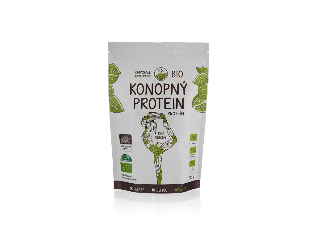 Empower Supplements Konopný protein s kakaem BIO 200 g