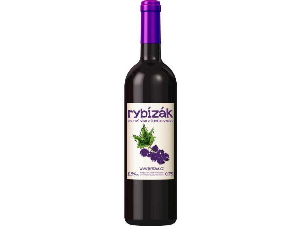 Rybízák - Víno z černého rybízu 750 ml