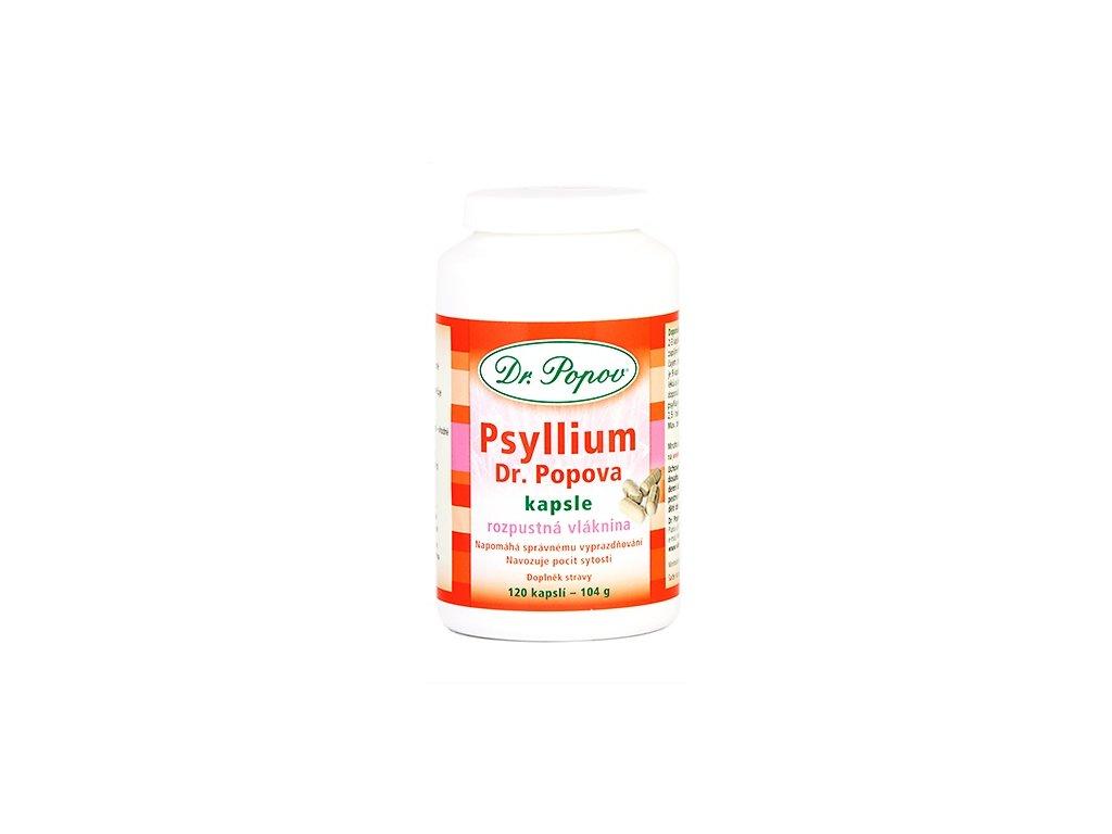 Dr. Popov Psyllium indická rozpustná vláknina kapsle 120ks