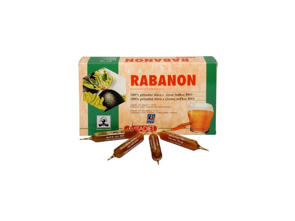 Phytoderma Bio Rabanon - 100% šťáva z černé ředkve 20x10 ml