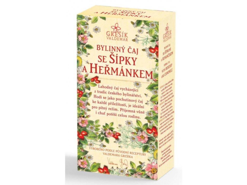 Grešík Se šípky a heřmánkem bylinný čaj sypaný 50 g