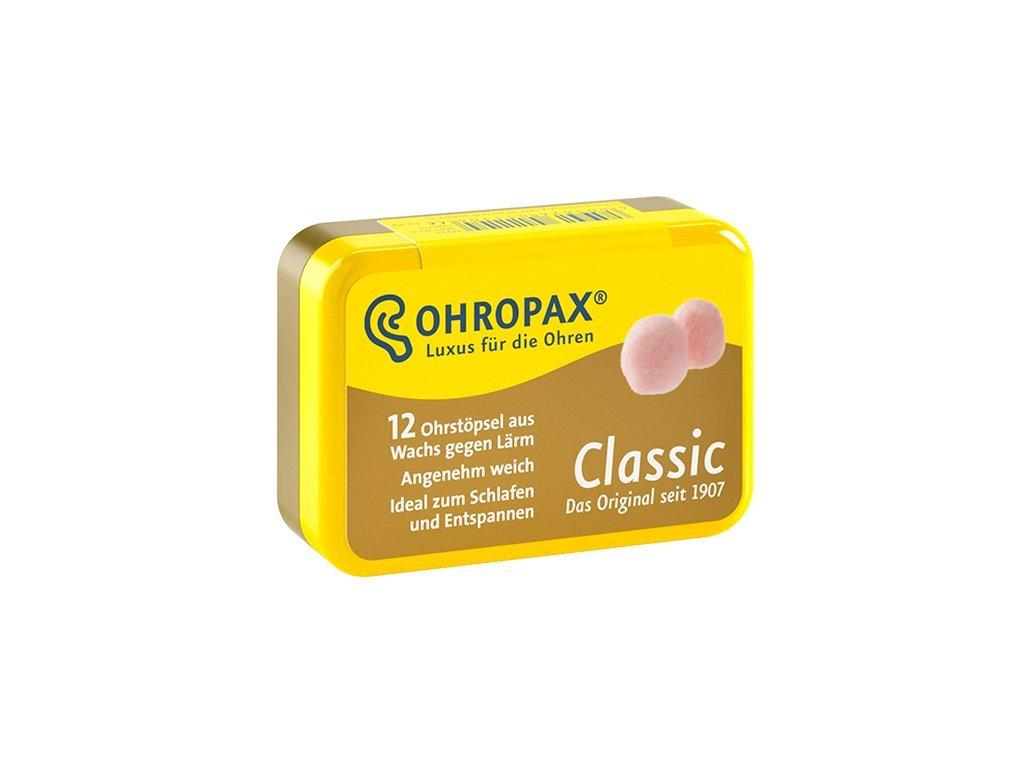 chranice sluchu Ohropax classic 12ks