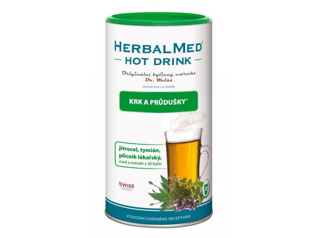 HerbalMed Hot Drink Dr. Weiss - kašel, průdušky 180 g