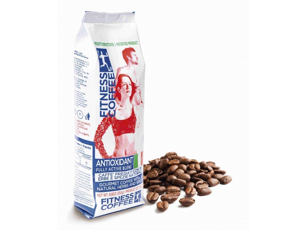 Monvitaly Káva Fitness Coffee Antioxidant Fully Active Blend zrnková 250 g