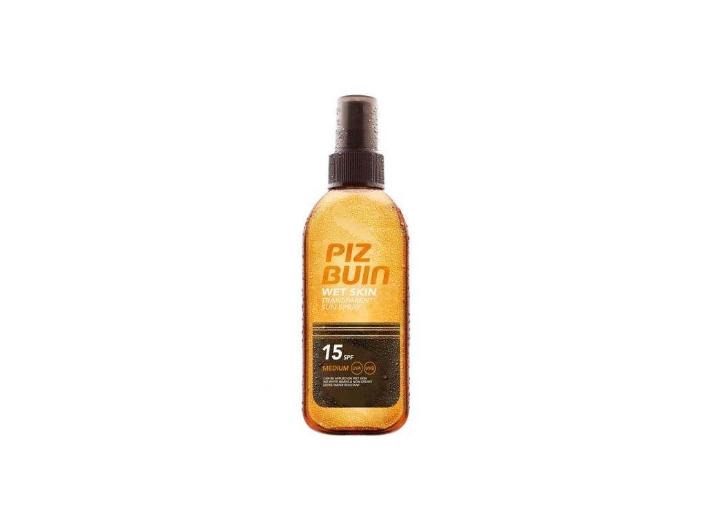 Piz Buin Transparentní sluneční sprej na vlhkou pokožku Wet Skin SPF 15 150 ml