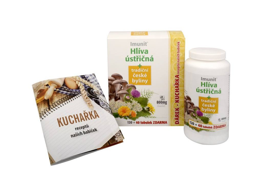Imunit Hlíva ústřičná 800 mg tradiční české byliny 120 tob. + 40 tob. ZDARMA