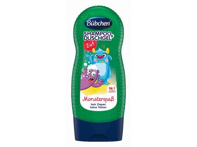 Bübchen Kids šampon a sprchový gel - mořská příšera 230 ml