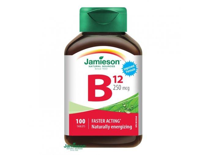 jamieson vitamin b12 metylkobalamin 250 mcg 100 tbl