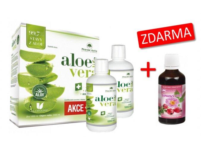 AloeVeraLife 1+1 ZDARMA (1000 ml + 1000 ml) + Šípkový olej 100% 50 ml ZDARMA
