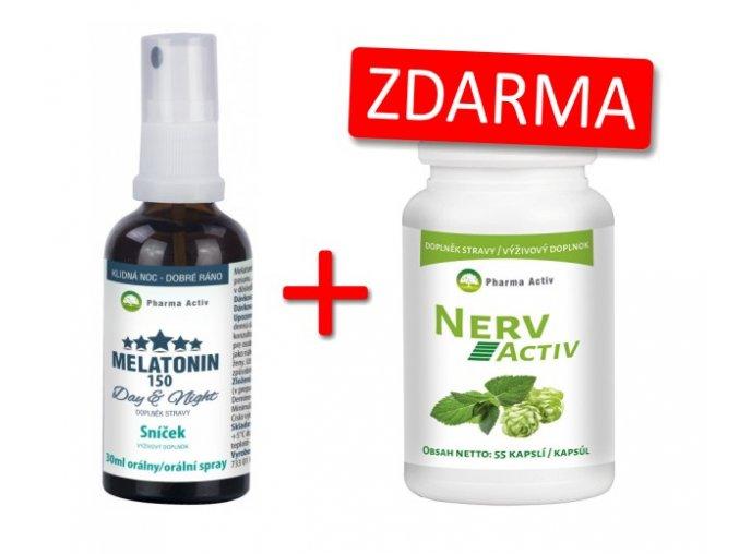 Melatonin sprej + 1x Nerv Activ 55cps. ZDARMA