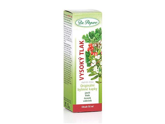 DR. POPOV   Vysoký tlak bylinné kapky 50 ml
