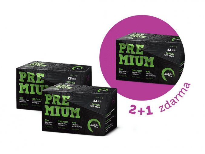 Matcha Tea BIO Premium 2+1 ZDARMA