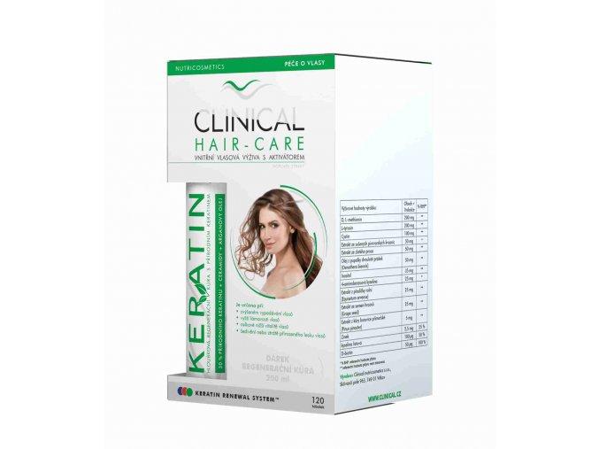 CLINICAL HAIR-CARE 120 TOB. + KERATIN REGENERAČNÍ KÚRA 100 ML ZDARMA