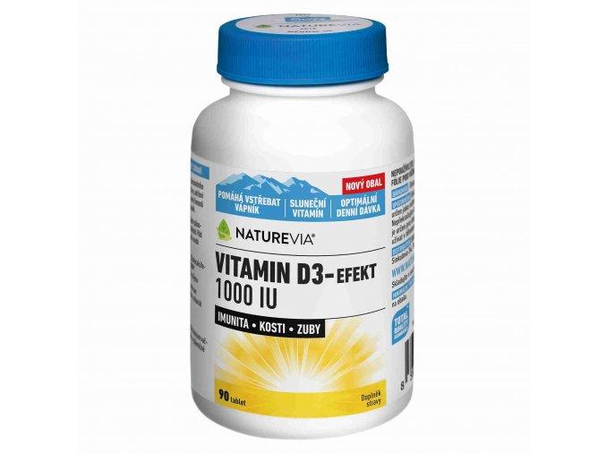 Naturevia Vitamín D3-Effekt 1000 IU 90 tbl.