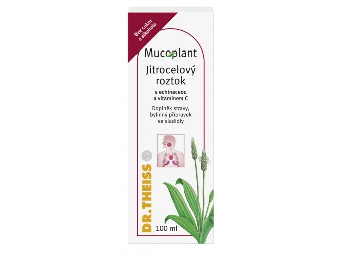 Mucoplant Jitrocelový sirup bez cukru s echinaceou a vitaminem C 100 ml