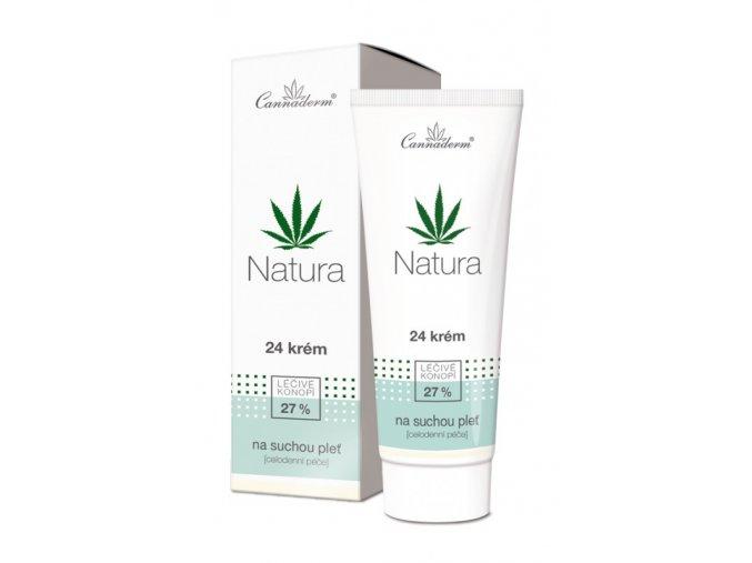 Cannaderm Bio 24 krém na suchou a citlivou pleť Natura 75 g