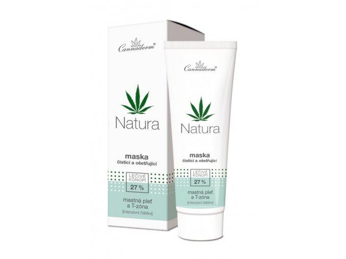 Cannaderm Bio Maska čisticí a ošetřující Natura 75 g