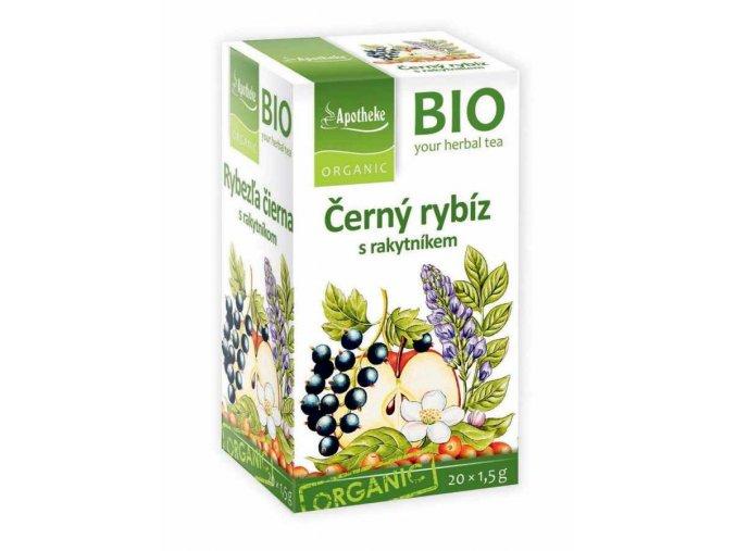 Apotheke Bio Ovocný čaj černý rybíz s rakytníkem 20x1.5g