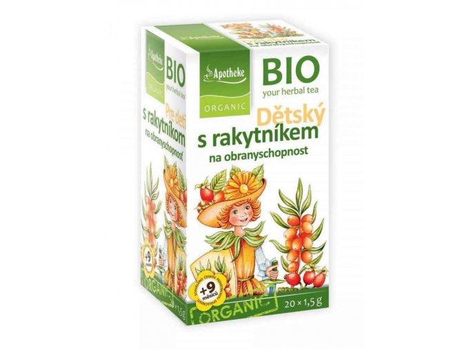 Apotheke Bio Dětský bylinný čaj s rakytníkem 20x1,5g