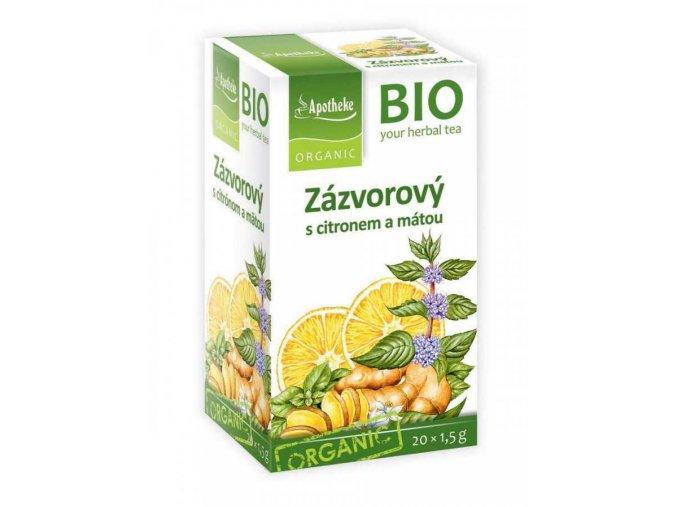 Apotheke Bio Bylinný čaj zázvorový s citronem a mátou 20x1,5g