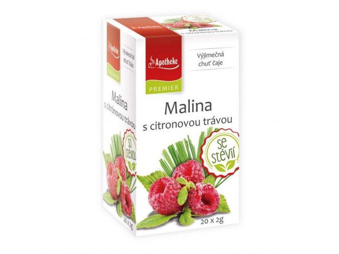Apotheke Malina s citronovou trávou a stévií čaj 20x2g