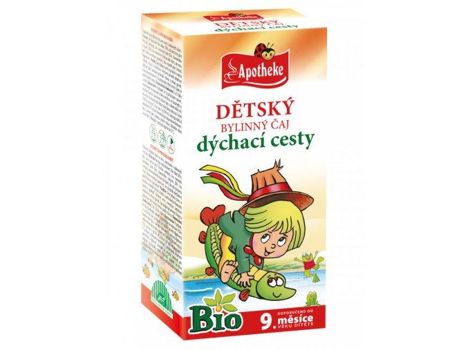 Apotheke BIO Dýchací cesty Dětský bylinný čaj 20x1.5g