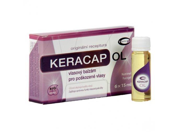 Topvet Keracap OL vlasový balzám pro poškozené vlasy 6x15 ml