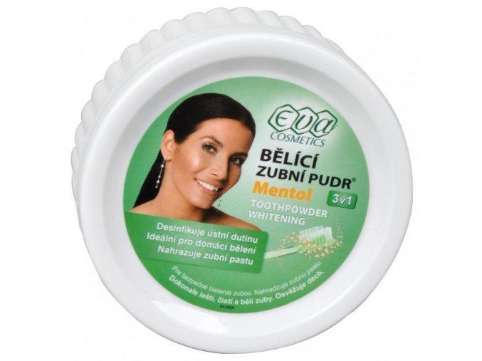 EVA Cosmetics Bělící zubní pudr (menthol) 3v1 30 g