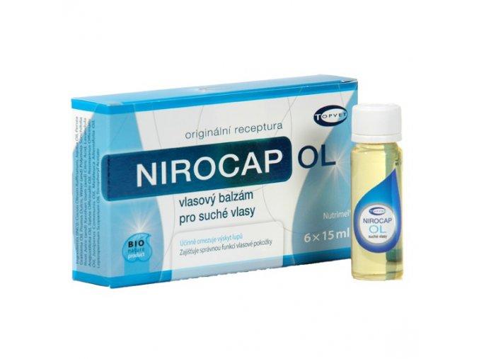 Topvet Nirocap OL vlasový balzám pro suché vlasy 6x15 ml
