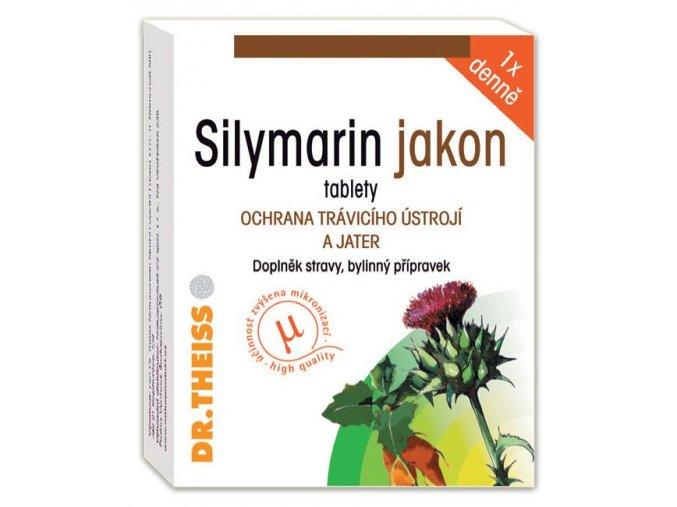 Naturprodukt Silymarin jakon - 100 mg silymarinu 40 tbl.