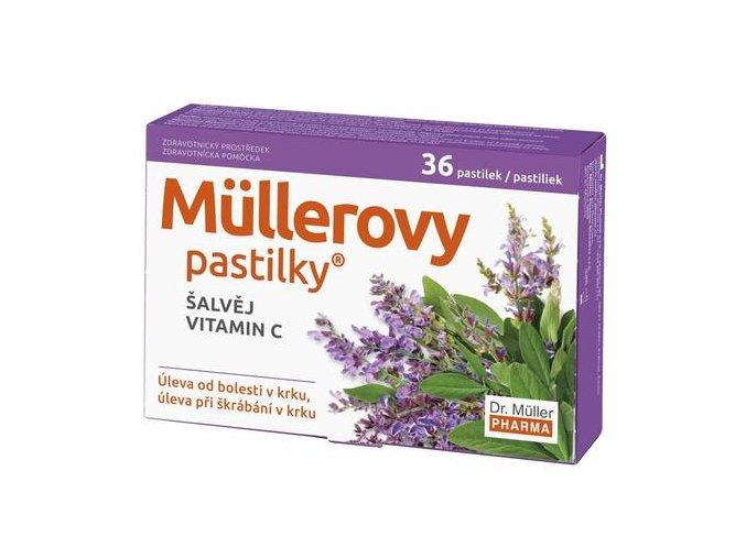 Dr. Muller Müllerovy pastilky se šalvějí a vitamínem C 24ks