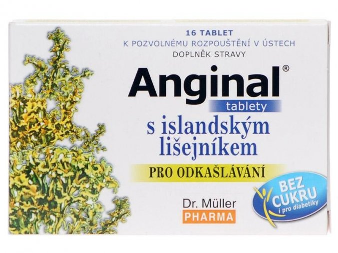 Dr. Muller Anginal tablety s islandským lišejníkem 16 tbl.