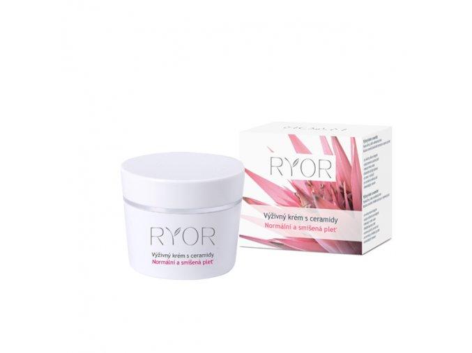 Ryor Výživný krém s ceramidy pro normální a smíšenou pleť 50 ml